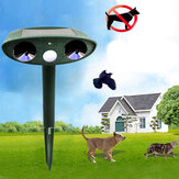 GreatHouse Ultrasone zonne-energie Animal Dispeller Outdoor Garden Animal Scarer Cat Dog Repeller