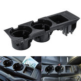 Carbon Fiber Center Console Drink Cup Coin Holder Boks til BMW 3 Series E46 99-06