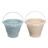 10L Portable Folding Bucket Silicon Bucket Household Laundry Storage Bucket Outdoor Fishing Round Bucket