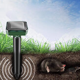 2/4 PCS Ultrasonic Animal Repellent Solar Powered Waterproof Snake Mouse Cat Pest Repellent t Animal Rejector Pest Control