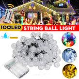 12M À prova d'água 100LED String Ball Light Lâmpada de decoração de casamento para festa de jardim ao ar livre + controle remoto