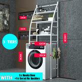 Rejilla para inodoro Sobre rejilla para lavadora Estantería de metal para inodoro Cuarto de baño Estante de almacenamiento de cocina Estante de ahorro de espacio Organizador Soporte