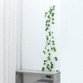 6-24шт 2,3 м 81 лист искусственные висячие растения зеленый шелковый плющ виноградная лоза гирлянда
