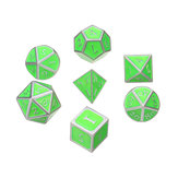 7Pcs Antique Metal Polyhedral Dices Multisided Dice Set RPG Dices Set