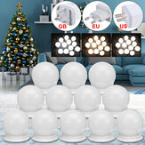 12x USB Hollywood LED Vanity Mirror Makeup Dressing Table Dimmable Light Bulbs