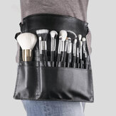 Black PU Makeup Brush Bag Unilateral Makeup