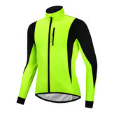 WOSAWE Winter Warm Up Thermische Fleece Heren Fietsjack Waterdicht Fiets MTB Weg Winddicht Fietskleding