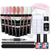 Nail Gel Kit Builder Quick Extension UV Nail Polish Top Coat Tools Set