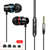 INSMA G86 Metal Bass In-Ear-Kopfhörer 4D Stereo Sound Line Control-Kopfhörer mit Mikrofon für Mobiltelefone
