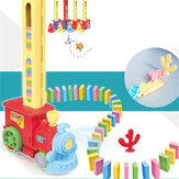 Domino Train Car Set Bridge kit Colorful Plastic Dominoes Block Children Toys Christmas Birthday Gift for Kids Boy Girl