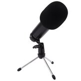 HZM&C BM-750USB Professional Universal HD Live Streaming USB Condenser Wired Microphone with Sound Card Tripod Stand for Samsung Xiaomi PC Laptop
