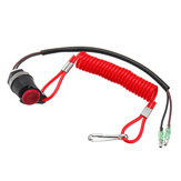 Boot Kill Switch Tether Cord Lanyard Rood Voor Marine Mercury Tohatsu Buitenboordmotor