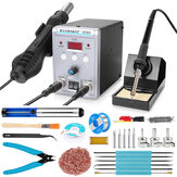 Handskit 8586 2 in 1 Soldering Staiton Hot Air SMD BGA Rework Welding Station 220V Portable Soldering Station Welding Tools