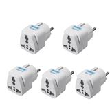 5 sztuk podróżny uniwersalny adapter do gniazdka elektrycznego UK US EU AU na wtyczkę ue konwerter wtyczki złącze konwertera