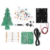 Geekcreit DIY Kit de Árvore de Natal de Espectro de Controle de Voz de Áudio com Luz de Três Cores Com Bateria Caixa
