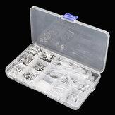 270 pz 2.8 / 4.8 / 6.3mm Spina fine nuda argento primavera isolato a freddo morsettiera isolata filo e cavo Connettore kit terminale a forcella Scatola