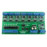 DC 12V 24V 8 IO isolado DIN35 C45 Rail Caixa UART RS485 MOSFET Módulo Modbus RTU Placa de chave de controle para relé PLC LED PTZ