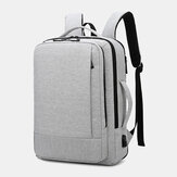 Men Oxford USB Charging Multi-pocket Business Laptop Bag Backpack