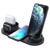 Bakeey 4 In 1 Wireless Charger 10W Fast Wireless Charging Pad Earbuds Charger Phone Charger Watch Charger For iPhone 12 12 Mini 12 Pro Max For Samsung Galaxy Note 20 Xiaomi Mi10