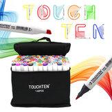 Conjunto de marcadores de arte colorida TOUCHTEN 30/40/60/80 Artista de dupla cabeça desenhando marcadores à base de álcool para mangá de animação Design Canetas