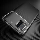Bakeey for Xiaomi Mi 10 Lite Case Luxury Carbon Fiber Pattern Shockproof Silicone Protective Case Back Cover Non-original