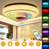 Dimmable RGBW LED Music Ceiling Lights with bluetooth Speaker Cellphone APP Control Color Changing LED Flush Mount Ceiling Light LED Down Light Fixture for Home Bedroom Decor Party Lighting AC220V/110~220V