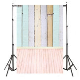 5x10FT Vinyl Colorful Photo Background Wooden Planks Wood Floor Studio Backdrop