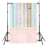 5x10FT Vinyl Kleurrijke Foto Achtergrond Houten Planken Houten Vloer Studio Achtergrond