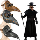 Halloween Medieval Steampunk Plague Doctor Bird Mascara Látex Punk Cosplay Mascaras Nariz larga Pico Evento de Halloween para adultos Accesorios de cosplay
