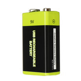 ZNTER S19 9V 600mAh USB Rechargeable 9V Lipo Battery