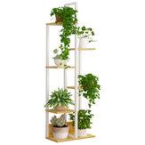 6-уровневый деревянный Растение Стенд Цветочный горшок Полка Крытый Книжный Стеллаж Декор