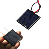 0.25W 5V 45 * 45 mm Mini panel de polisilicio Solar tablero de epoxi con Alambre