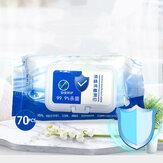 70 таблеток Портативные салфетки для стерилизации алкоголя на 75% Одноразовая чистящая бумага для домашнего здравоохранения