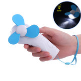 Summer Mini Cooling Fan Outdoor Camping Portable Hand-held Cool Fan with LED Light