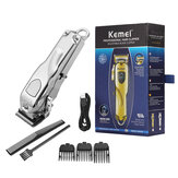 KM-2010 LCD Display Hair Clipper USB Rechargeable Carbon Steel Adjustable Cutter Head Electric Trimmer Haircut Machine