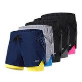 ARSUXEO Męskie sportowe spodenki do biegania 2 w 1 Szybkoschnące Oddychające Soft Fitness Gym Yoga Krótkie spodnie rowerowe