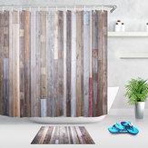 40X60cmحمامدشالستارالحديثةريفي الخشب جدار ضد للماء الحمام اينر دش الستار