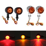 12V Universal Motorcycle Bullet Turn Signal Indicator Brake Runnning Lights 4 Wire