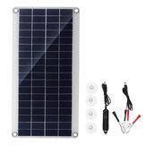 20 Watt Tragbare Solarpanel Satz DC USB Lade Doppel USB Port Saugnäpfe Camping Reisen