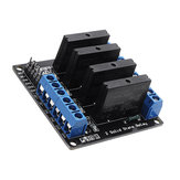 4 Channel DC 12V  Relay Module Solid State High and low Level Trigger 240V2A Geekcreit for Arduino - products that work with official Arduino boards
