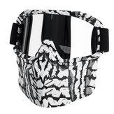 Maschera da sci per ciclismo in moto + occhiali antivento rimovibili per casco mezzo viso aperto