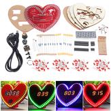 مجموعة WangDaTao LED Flash على شكل قلب لتقوم بها بنفسك ساعةحائط مجموعة لوحة على شكل قلب