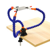 Support de support de soudure de table aidant les bras flexibles des mains pour la réparation de soudage PCB