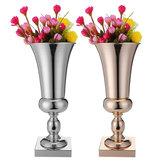 43см Потрясающая Роскошная Серебряная Золотая Ваза для цветов Свадебное Настольный декор
