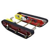 A esteira rolante esperta de Caterpillar dos jogos do chassi do tanque do robô integrou o motor dois para
