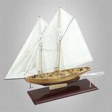 Faça você mesmo, modelo de veleiro de madeira, construção de navio montado kit decoração para casa brinquedos quebra-cabeça infantil presente