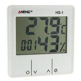 ANENG HS-1 الرقمية لد محطة الطقس الرطوبة الالكترونية الالكترونية الرطوبة متر المنبه داخلي