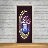 3D Islamic Wall Sticker Door Wall Paper Removable Wall Decal Office Home Living Room Bedroom Decorations