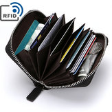Men RFID Blocking Wallet Coin Bag Protective Zipper Wallet