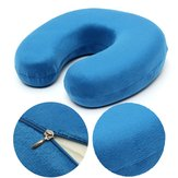 Soft Velour Memory Foam Neck Support U Shaped Pillow